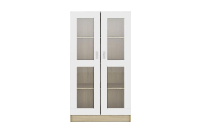 Vitrinskåp 82,5x30,5x150 cm spånskiva - Beige - Möbler - Förvaring - Vitrinskåp