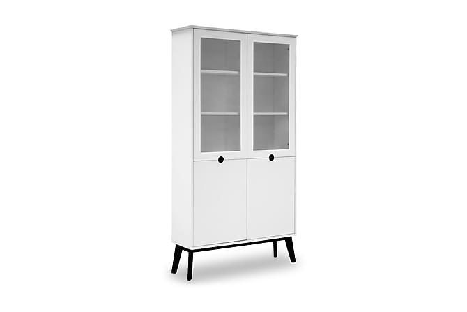 Vitrinskåp Century 107 cm - Vit|Svart - Möbler - Förvaring - Vitrinskåp