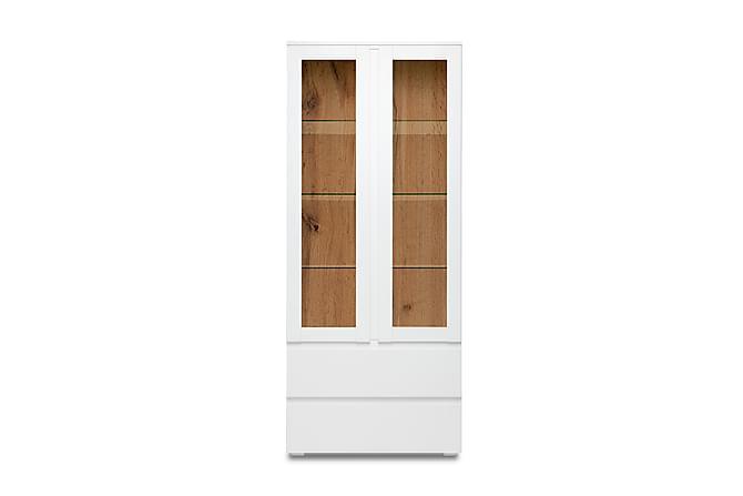 Vitrinskåp Dellyn 80 cm - Vit - Möbler - Förvaring - Vitrinskåp