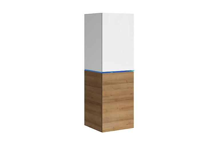 Vitrinskåp Domino 35x35x109 cm - Beige/Brun - Möbler - Förvaring - Vitrinskåp