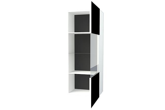 Vitrinskåp Mallari 45 cm - Vit|Svart - Möbler - Förvaring - Vitrinskåp