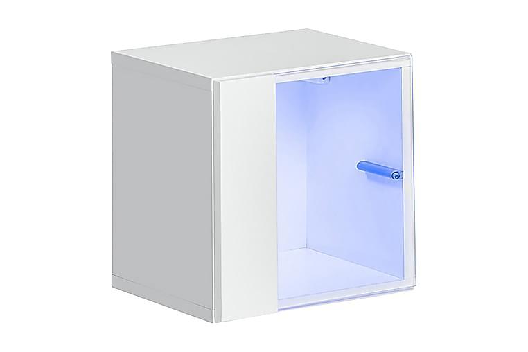 Vitrinskåp Vidara - Vit/Vit Högglans - Möbler - Förvaring - Vitrinskåp