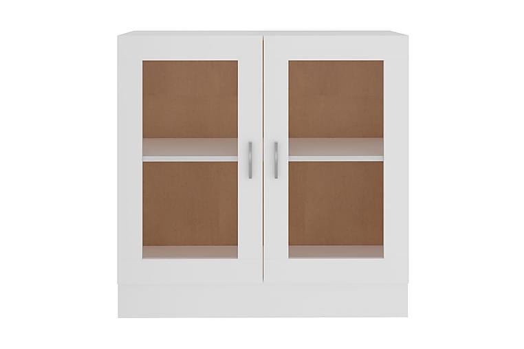 Vitrinskåp vit 82,5x30,5x80 cm spånskiva - Vit - Möbler - Förvaring - Vitrinskåp