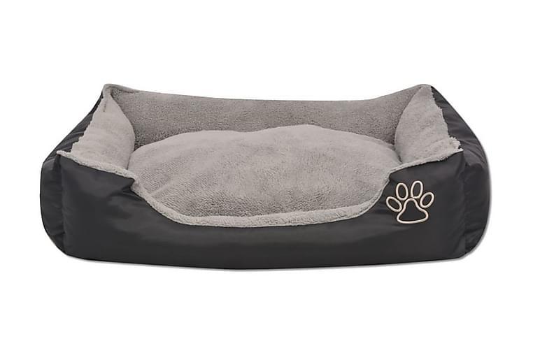 Hundbädd med vadderad kudde storlek XL svart - Svart - Möbler - Husdjursmöbler - Hundmöbler