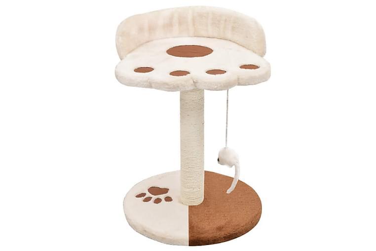 Klösträd med klöspelare i sisal 40 cm beige och brun - Beige - Möbler - Husdjursmöbler - Kattmöbler