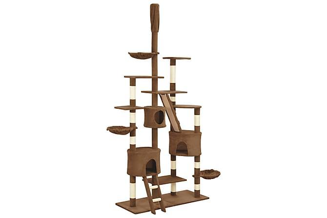 Klösträd med klöspelare i sisal brun 255 cm - Brun - Möbler - Husdjursmöbler - Kattmöbler