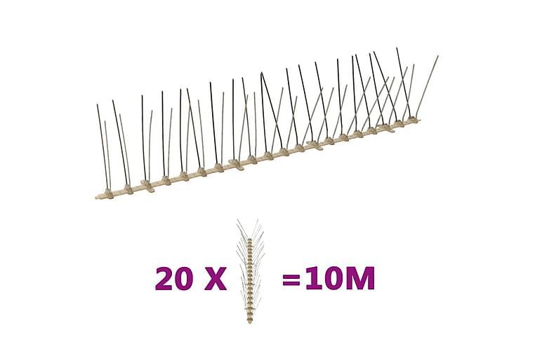 4-raders Fågelpiggar plast 20 st 10 m - Möbler - Husdjursmöbler - Tillbehör husdjur
