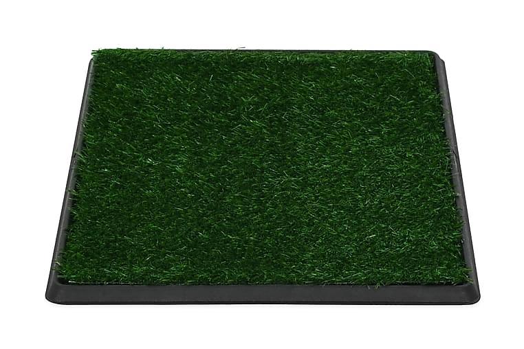 Djurtoalett med tråg och konstgräs grön 64x51x3 cm WC - Grön Svart - Möbler - Husdjursmöbler - Tillbehör husdjur