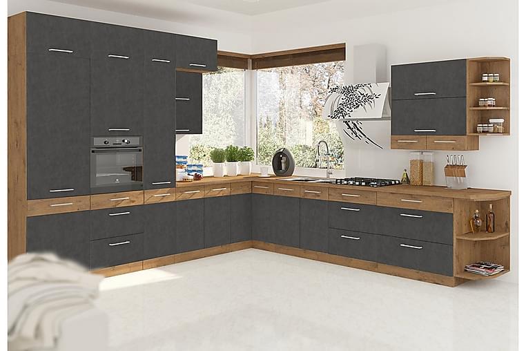 Köksmöbelset Wishon - Ek - Möbler - Möbelset - Möbelset för kök & matplats