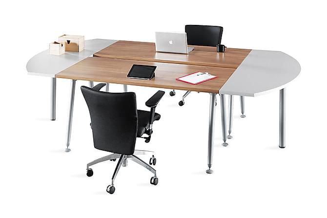Konferensbord Sashya 300 cm - Ek|Grå|Vit - Möbler - Möbelset - Möbelset för kontor