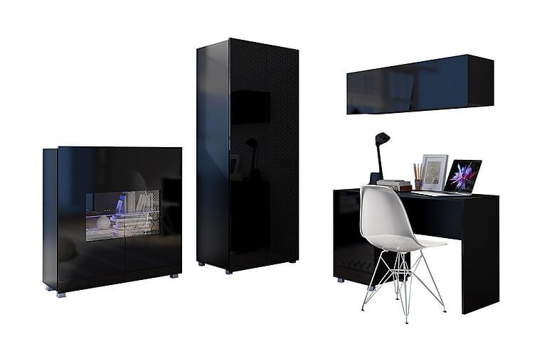 Vardagsrumsset Frick - Svart/Vit - Möbler - Möbelset - Möbelset för vardagsrum