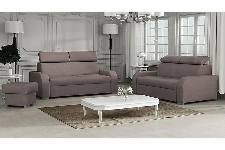Vardagsrumsset Oslo - Brun - Möbler - Möbelset - Möbelset för vardagsrum