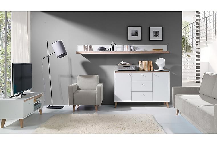 Vardagsrumsset Oviedo - Grå/Vit - Möbler - Möbelset - Möbelset för vardagsrum