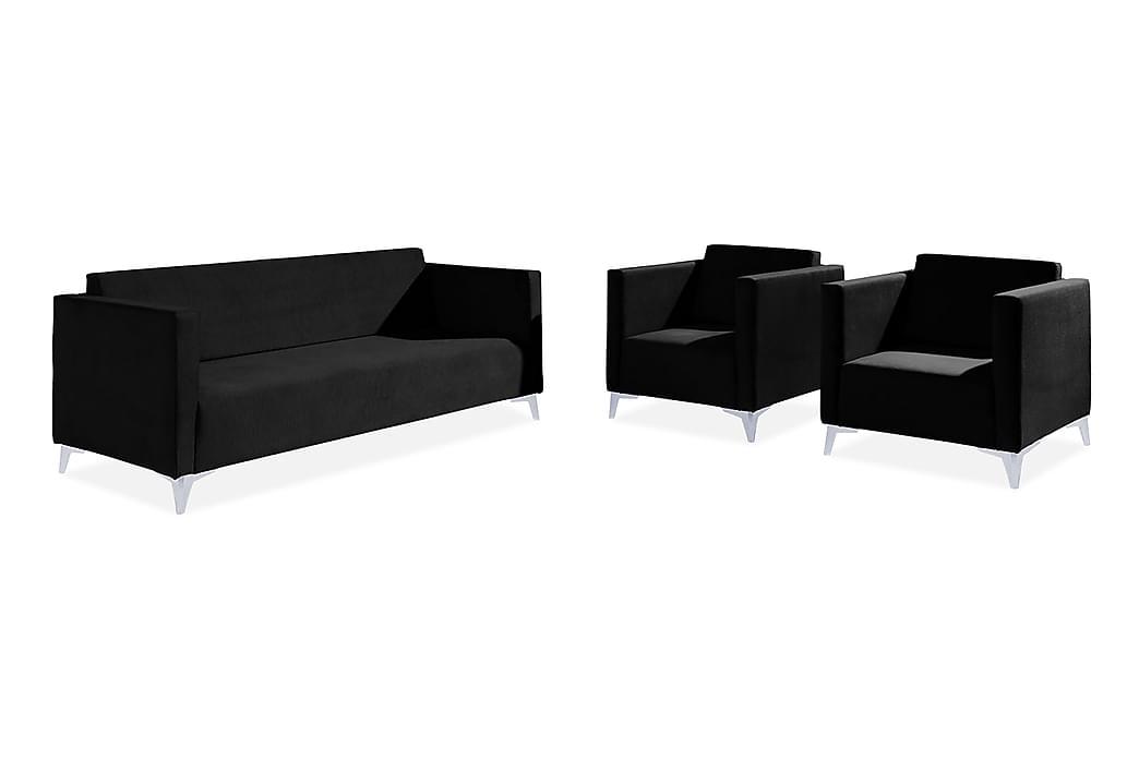 Vardagsrumsset Szafir - Vit/Högglans - Möbler - Möbelset - Möbelset för vardagsrum