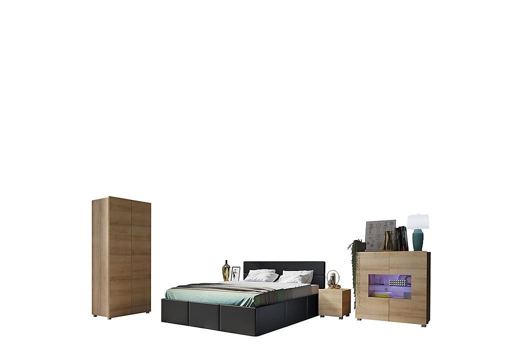 Sovrumsset Frick - Ek/Guld - Möbler - Möbelset - Möbelset för sovrum
