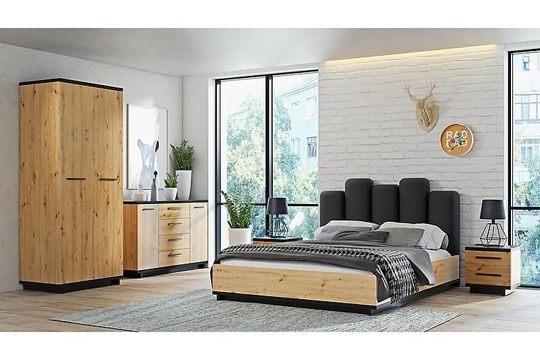 Sovrumsset Ines - Ek/Svart - Möbler - Möbelset - Möbelset för sovrum