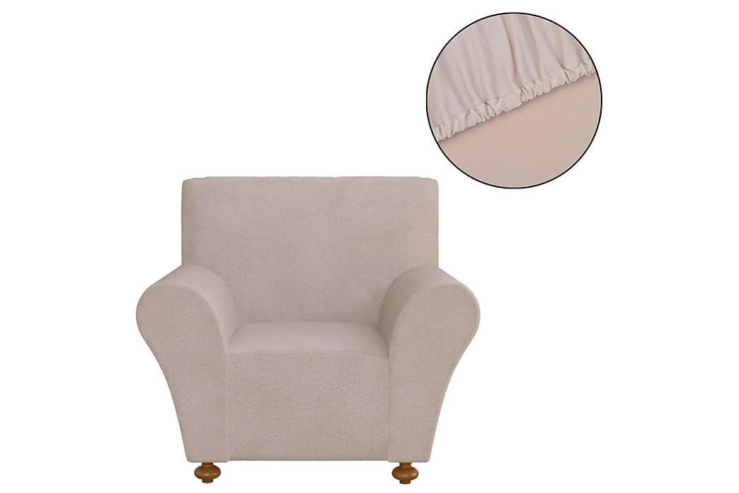 Sofföverdrag med stretch beige polyesterjersey - Beige - Möbler - Möbelvård - Möbelöverdrag