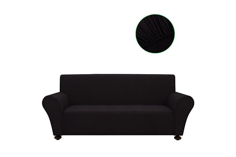 Sofföverdrag med stretch svart polyesterjersey - Svart - Möbler - Möbelvård - Möbelöverdrag