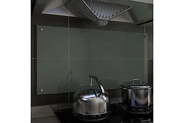 Stänkskydd vit 100x50 cm härdat glas
