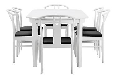 Matgrupp Paal Förlängningsbar 200 cm Oval med 6 Igino Stol