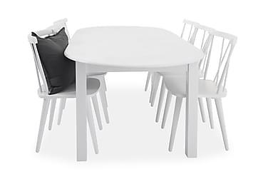 Matgrupp Siri 160 cm Oval med 6 Steinar Stol