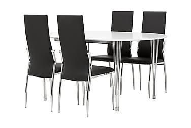 Matgrupp Sterling 160 cm Oval med 4 Henkel Stol