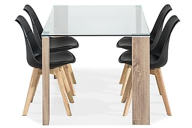 Marcelen Matbord med 4 st Stil Matstol