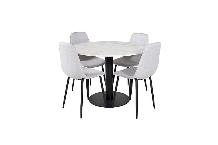 Matbord Admira 106 cm med 4 st Ypas Matstol - Möbler - Matgrupper - Rektangulär matgrupp
