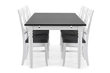 Matbord Hampton med 6 st Twain stolar