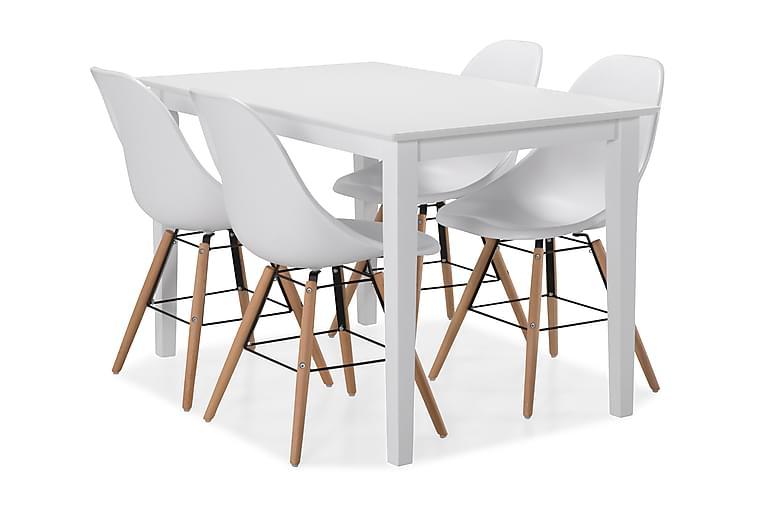 Matbord Matilda med 4 st Raja stolar - Vit - Möbler - Matgrupper - Rektangulär matgrupp