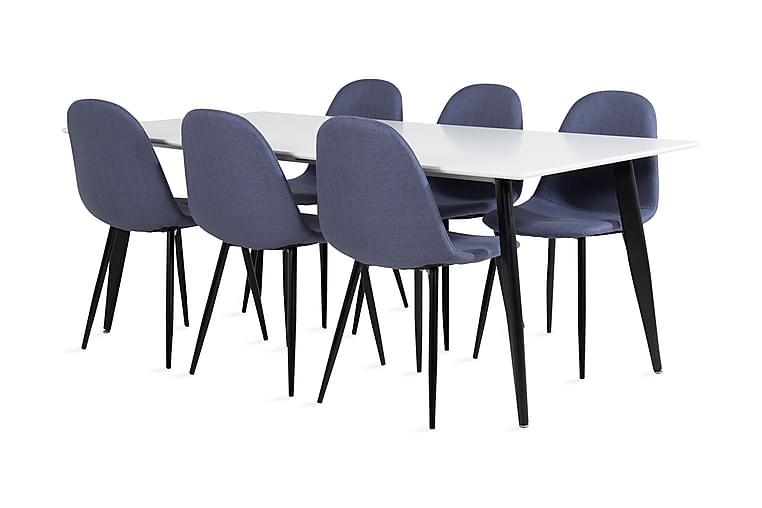 Matbord Pontus 180 cm med 6 st Ypas Matstol - Möbler - Matgrupper - Rektangulär matgrupp