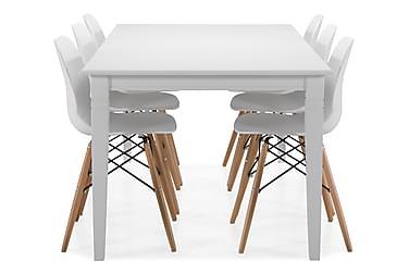 Matbord Twain med 6 st Laurent stolar