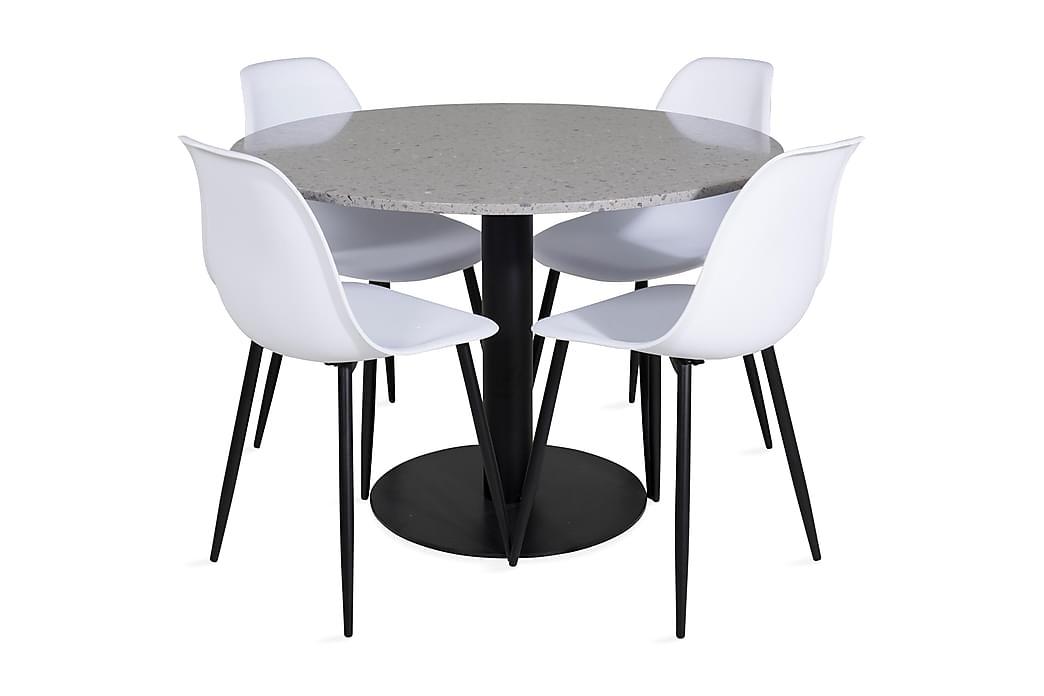 Matbord Valera 106 cm med 4 st Ypas Matstol - Möbler - Matgrupper - Rektangulär matgrupp