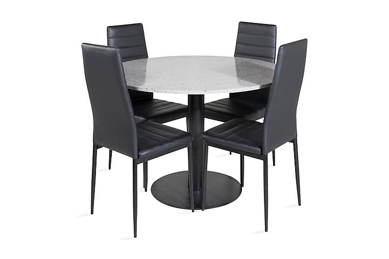 Matbord Valera 106 cm med 4 st Zovese Matbord - Möbler - Matgrupper - Rektangulär matgrupp