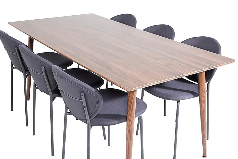 Matbord Ypas 180 cm med 6 st Moncoll Matstol - Möbler - Matgrupper - Rektangulär matgrupp