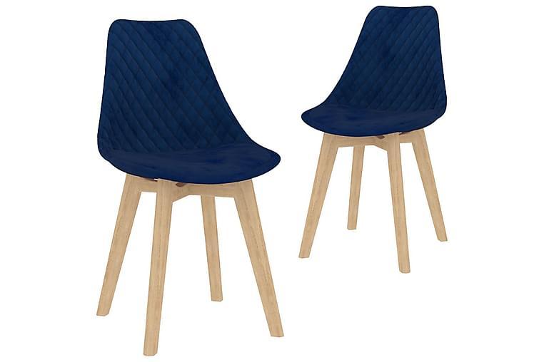 Matgrupp 3 delar blå - Blå - Möbler - Matgrupper - Rektangulär matgrupp