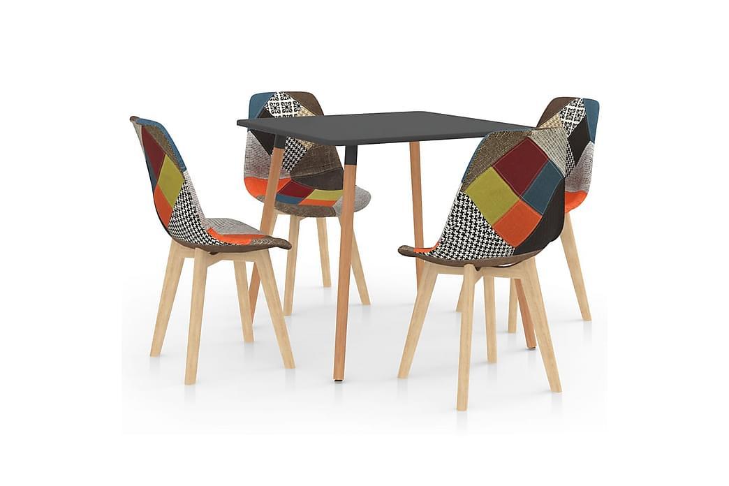 Matgrupp 5 delar flerfärgad - Flerfärgad - Möbler - Matgrupper - Rektangulär matgrupp