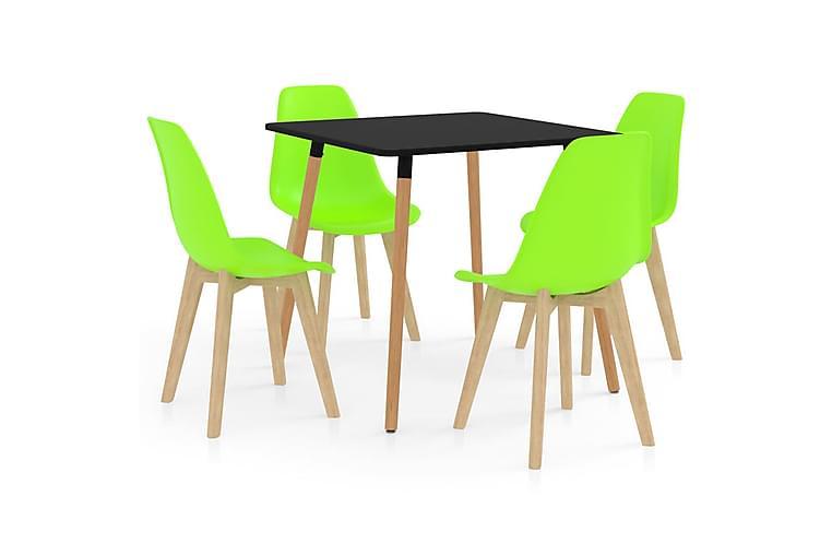 Matgrupp 5 delar grön - Grön - Möbler - Matgrupper - Rektangulär matgrupp