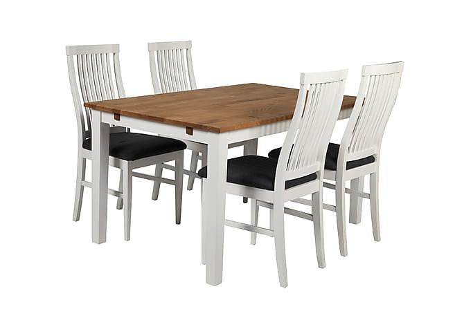 Matgrupp Anja med 4st Kalmar stolar Vit - Möbler - Matgrupper - Rektangulär  matgrupp 340a1c2f0999e