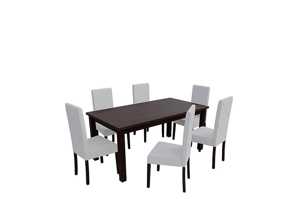 Matgrupp Esbo - Trä/Natur|Vit - Möbler - Matgrupper - Rektangulär matgrupp
