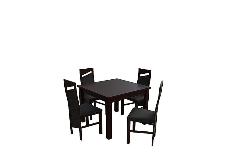 Matgrupp Itis - Valnöt - Möbler - Matgrupper - Rektangulär matgrupp