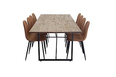 Matgrupp Karolina 250 cm med 8 Tommy Köksstol Konstläder