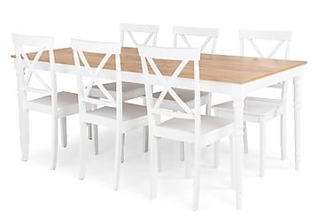 Matgrupp Milton Förlängningsbar 200 cm med 6 Mirimar Stol