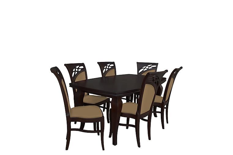 Matgrupp Tusby - Beige - Möbler - Matgrupper - Rektangulär matgrupp
