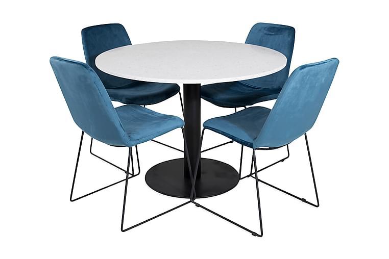 Matbord Razzia med 4 st Jadraque Matstol - Möbler - Matgrupper - Rektangulär matgrupp