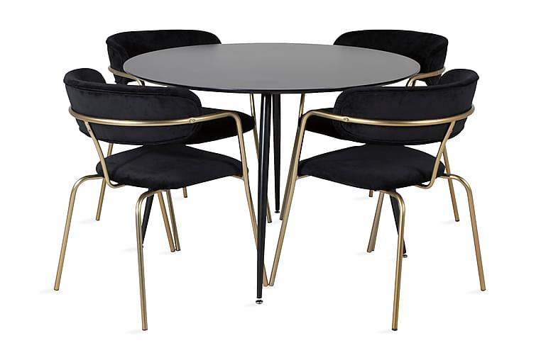 Matbord Azuer Runt med 4 st Arcarazo Fåtölj - Möbler - Matgrupper - Rund matgrupp