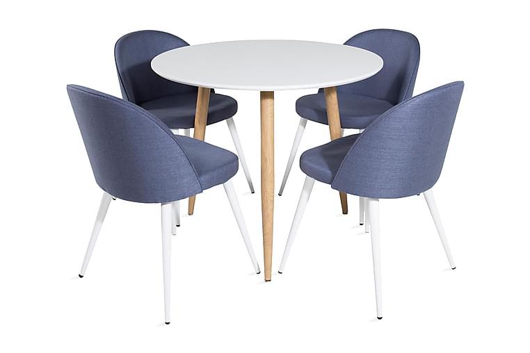 Matbord Pontus 90 cm Runt med 4 st Sedavi Matstol - Möbler - Matgrupper - Rund matgrupp