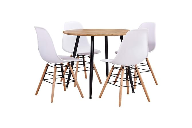 Matgrupp 5 delar plast vit - Vit - Möbler - Matgrupper