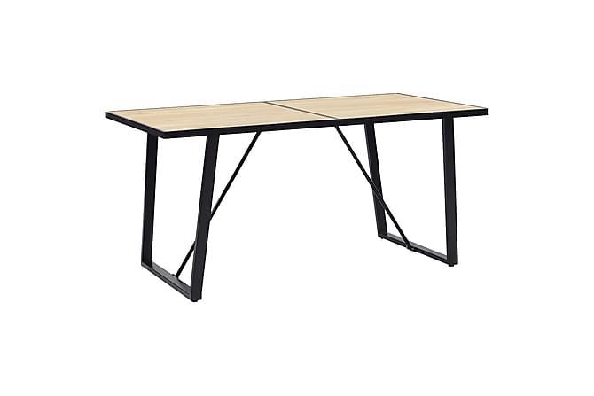 Matgrupp 7 delar grå konstläder - Grå - Möbler - Matgrupper
