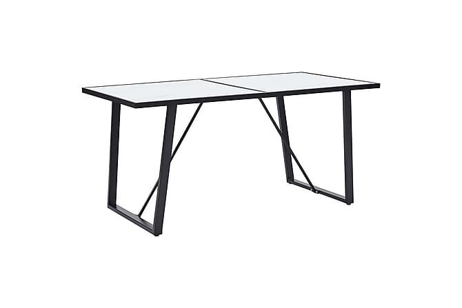 Matgrupp 9 delar grå konstläder - Grå - Möbler - Matgrupper